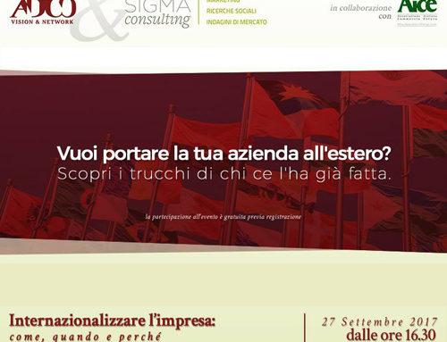 Risultati Ricerca Internazionalizzazione – intervista M. Cimino
