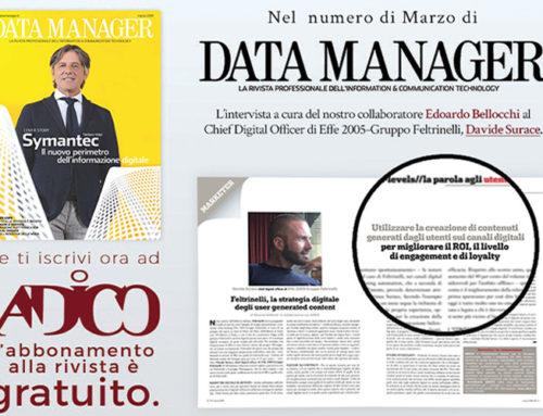 Davide Surace sul numero di Marzo di Data Manager