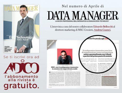 Andrea Guanci sul numero di Aprile di Data Manager