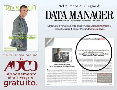 Paolo Mainardi sul numero di Giugno di Data Manager