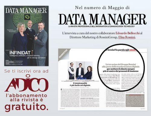 Elisa Rossini sul numero di Maggio di Data Manager