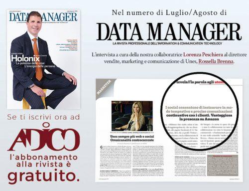 Rossella Brenna intervistata da Lorenza Peschiera sul numero di Luglio di Data Manager