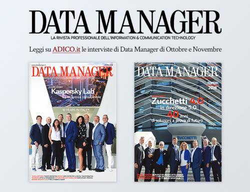 Gianni Rovelli e Pierre Queau nei numeri di data manager di Ottobre Novembre