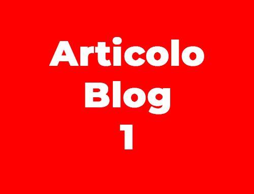 Articolo Blog
